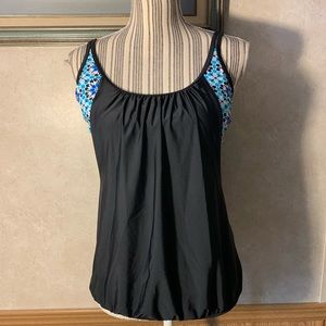 Black and blue sport tank top